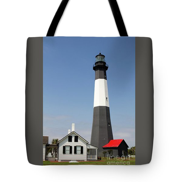 Tote Bag featuring the photograph Tybee Lighthouse Georgia by Steven Frame