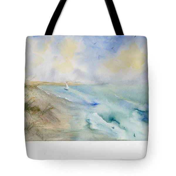 Tote Bag featuring the painting Tybee Memory by Doris Blessington