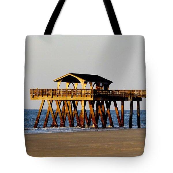 Tybee Pier Tote Bag