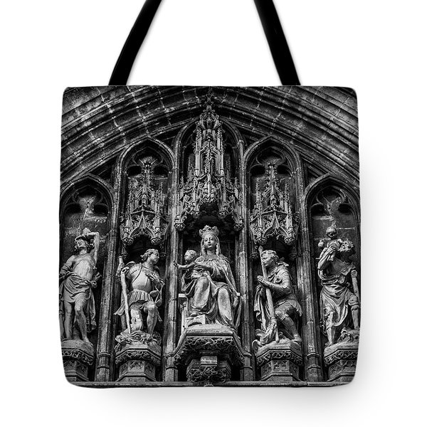 Tympanum From Notre Dame Du Sablon Tote Bag