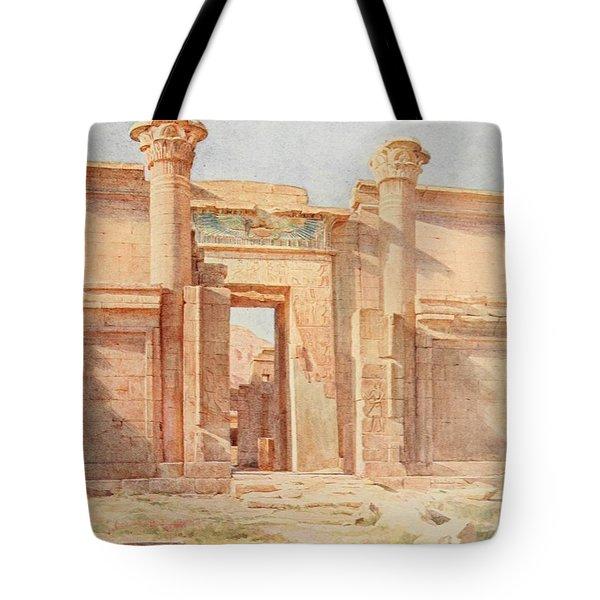 Tyndale, Walter 1855-1943 - Below The Cataracts 1907, The Ptolemaic Pylon, Medinet Habu Tote Bag