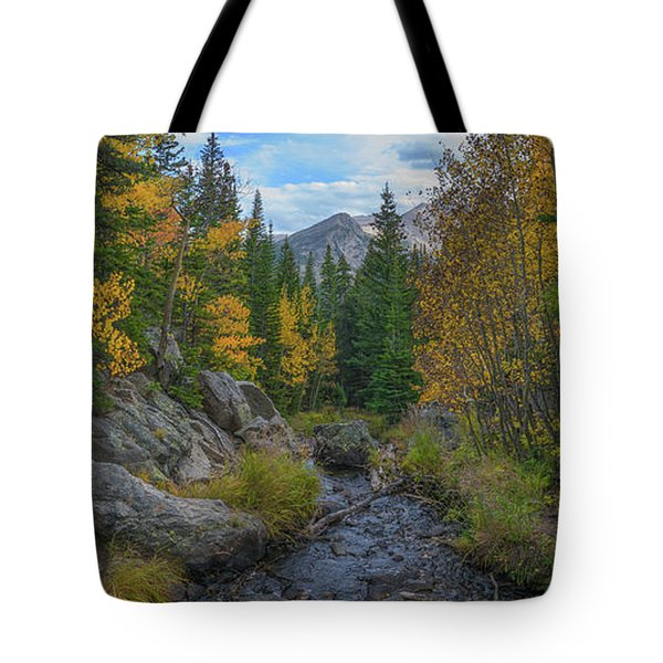 Tyndall Creek Panorama  Tote Bag
