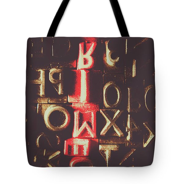 Type Of Criminal Evidence Tote Bag