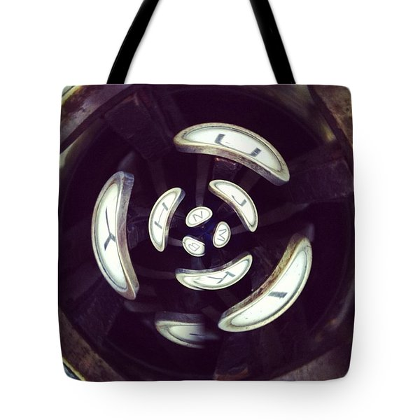 Abstract Typewriter Keys Tote Bag