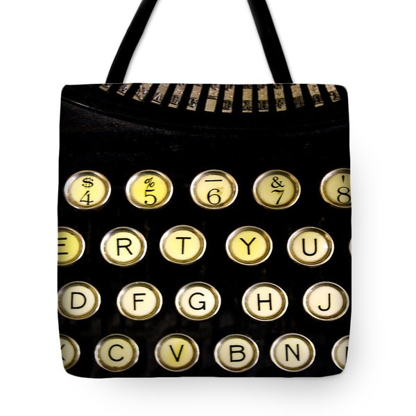 Typewriter Tote Bag by Christopher Woods
