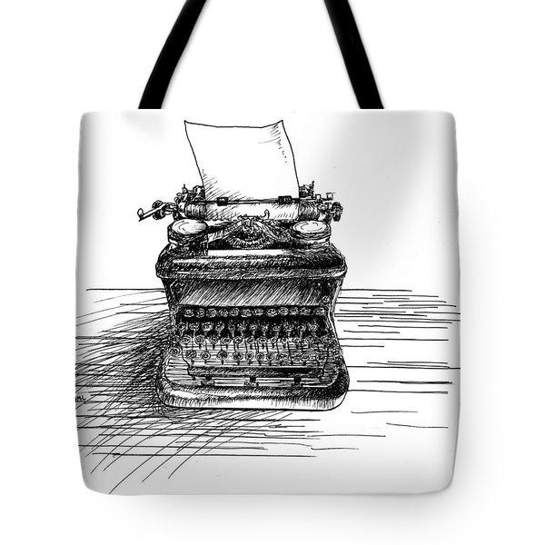 Typewriter Tote Bag by Diana Ludwig
