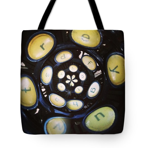 Typewriter Key Rose Tote Bag