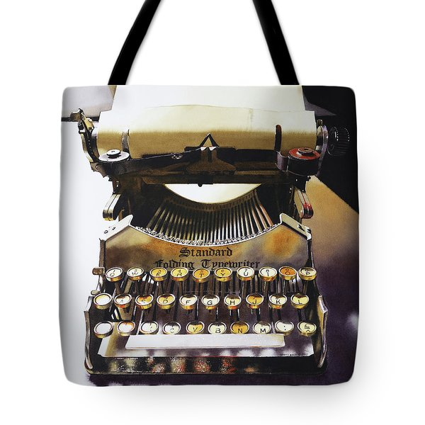 Typewritering Tote Bag