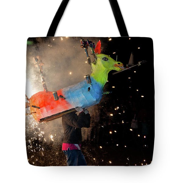 Typical Festival Plaza South Italy Tote Bag