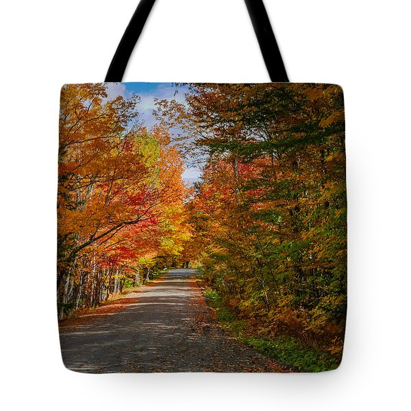 Typical Vermont Dirve - Fall Foliage Tote Bag