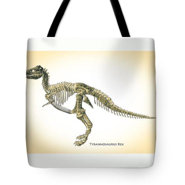 Tyrannosaurus Rex Skeleton Tote Bag by Bob Orsillo