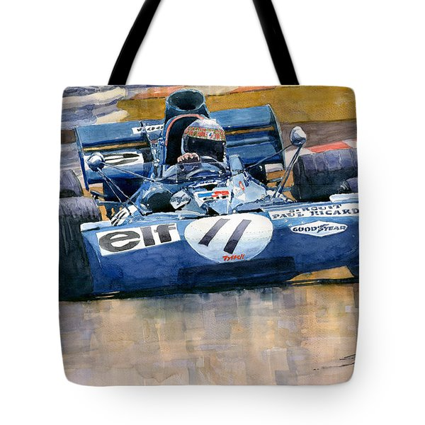 Tyrrell Ford 003 Jackie Stewart 1971 French Gp Tote Bag