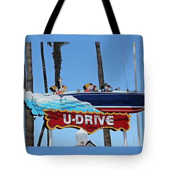 U-drive Boat Sign Tote Bag