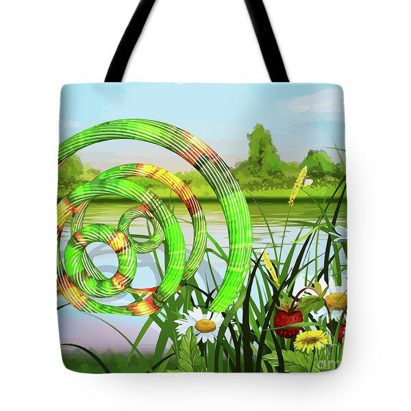 U F O In A River Art Tote Bag