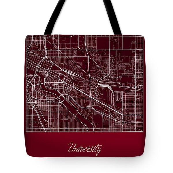 U Of M Street Map - University Of Minnesota Minneapolis Map Tote Bag by Jurq Studio