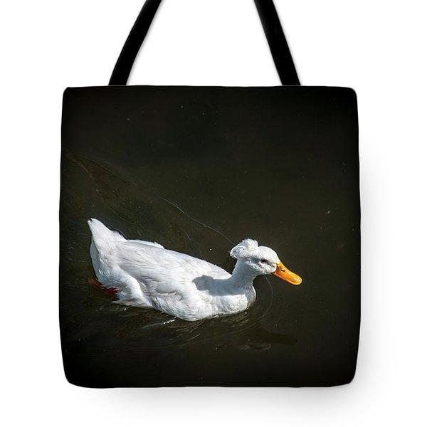 U Qwak Me Up Tote Bag by Daniel Hebard