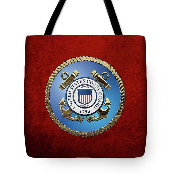 U. S. Coast Guard - U S C G Emblem Tote Bag