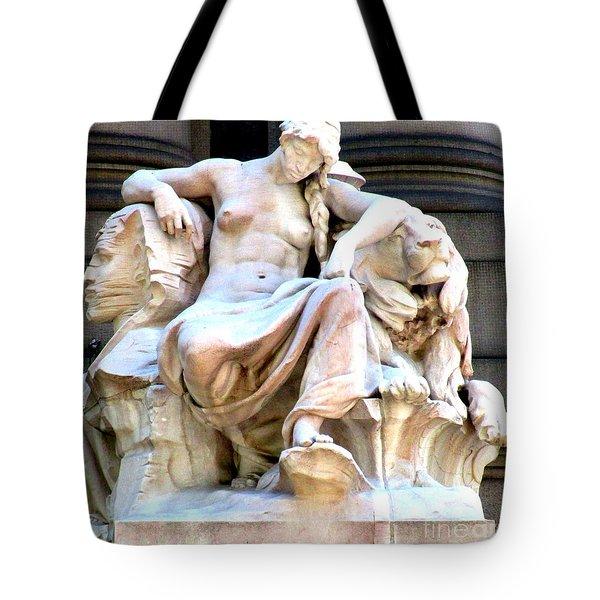 U S Custom House 3 Tote Bag by Randall Weidner