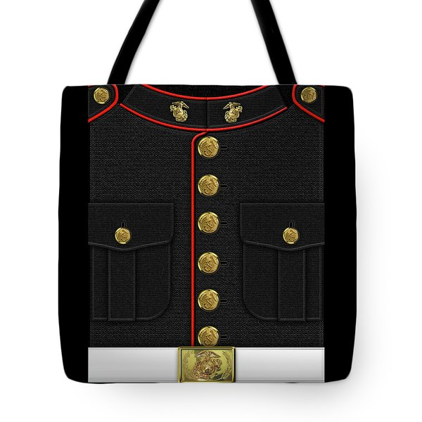 U S M C Dress Uniform Tote Bag