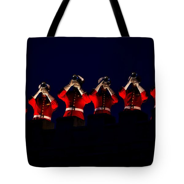 U S M C Drum And Bugle Corps Tote Bag