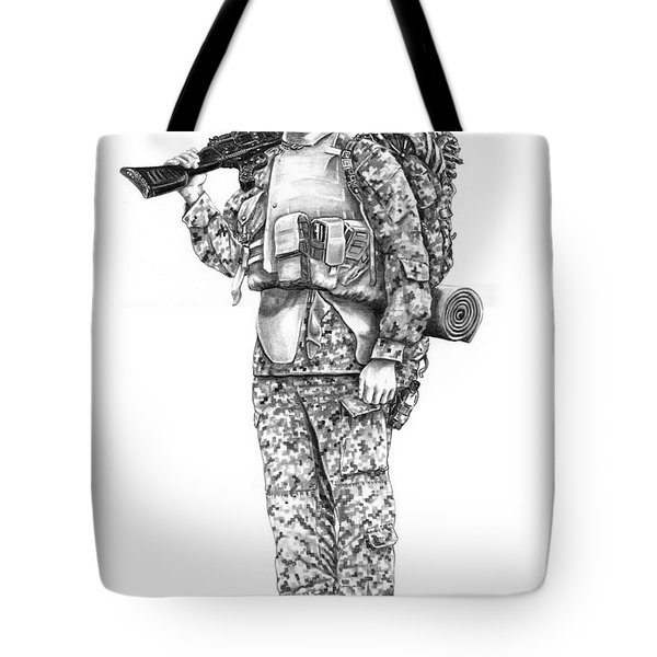 U S Marine Tote Bag by Murphy Elliott
