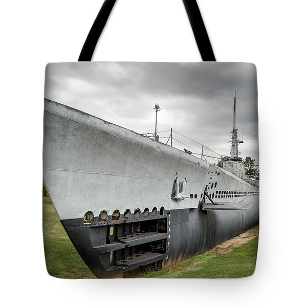 Tote Bag featuring the photograph U. S. S. Batfish by James Barber