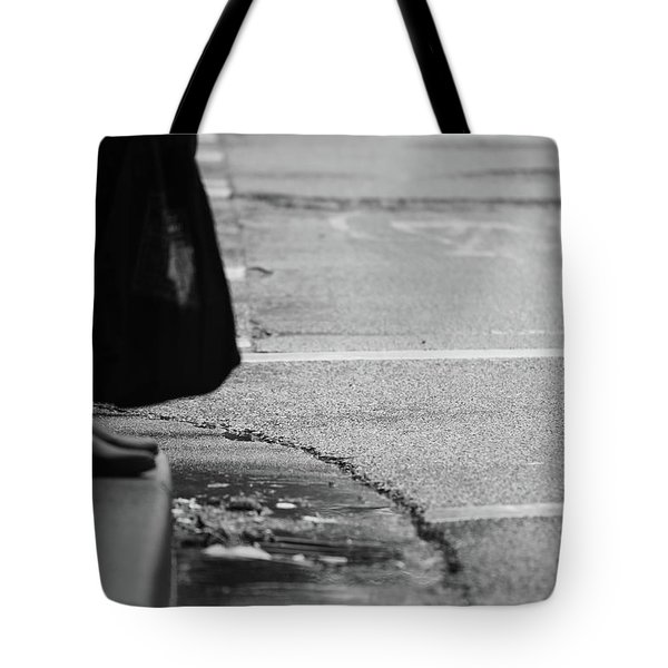 Tote Bag featuring the photograph U Stopped Me On My Tracks  by Empty Wall