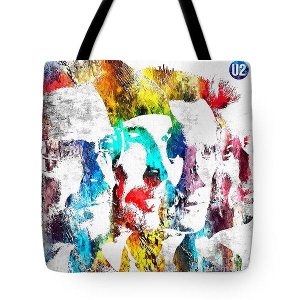 U2 Grunge Tote Bag