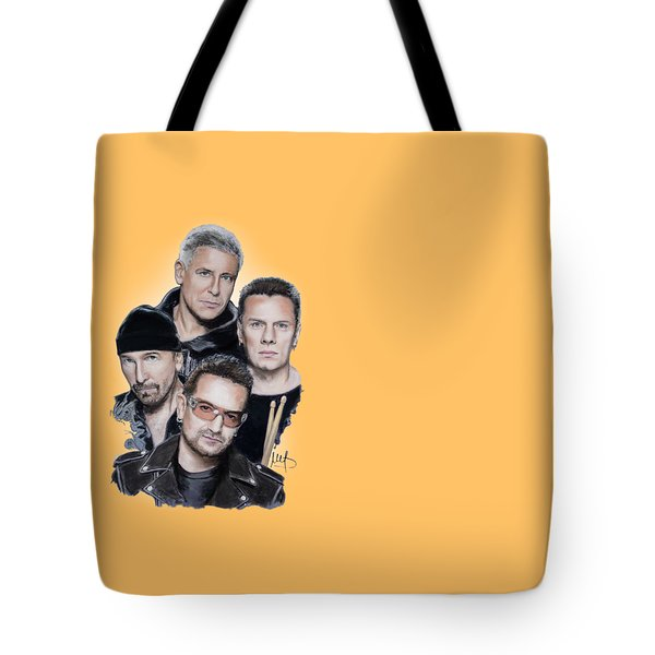 U2 Tote Bag by Melanie D