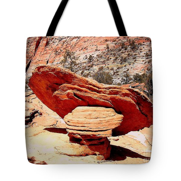 Ubalanced Rock Tote Bag by Marty Koch