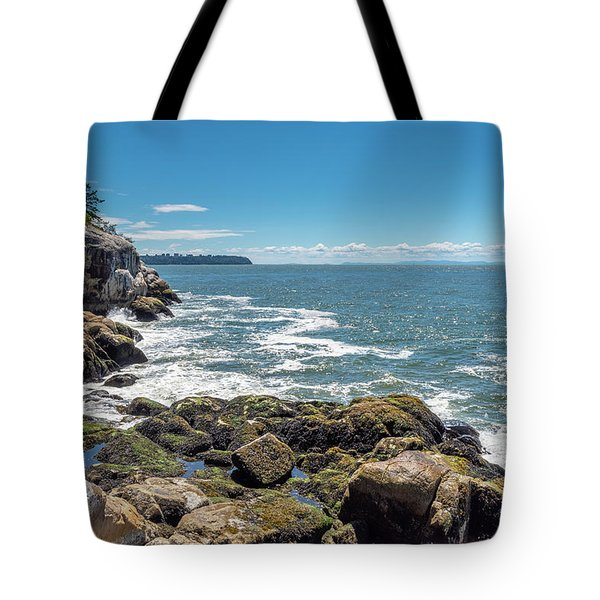 Tote Bag featuring the photograph Ubc View by Ross G Strachan