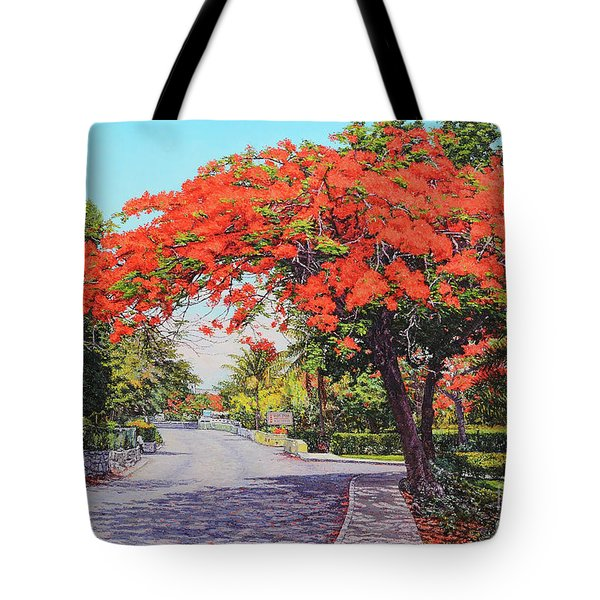 Ubs Poinciana Tote Bag