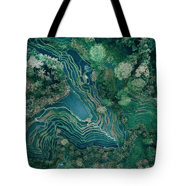 Ubud Rice Terrace Tote Bag