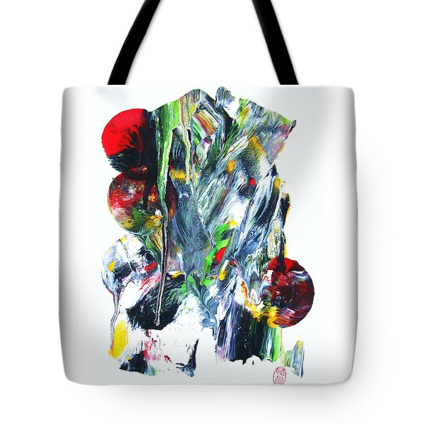 Tote Bag featuring the painting Uchu Dezain by Roberto Prusso