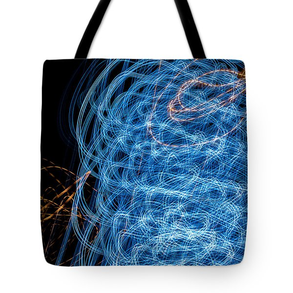Ufa Neon Abstract Light Painting Sodium #7 Tote Bag
