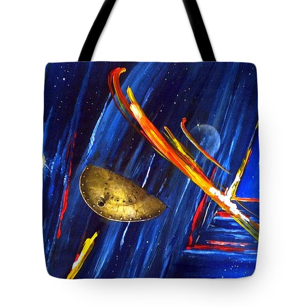 UFO Tote Bag by Arturas Slapsys