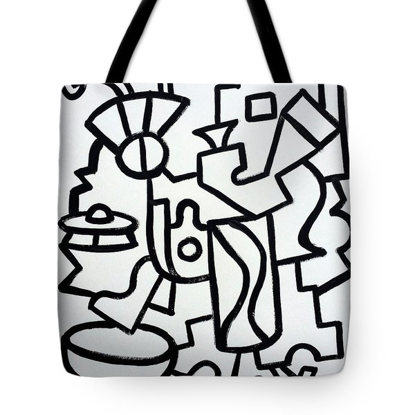 Ufo Creative Intelligence By Robert R Print Original Abstract Painting Modern Art Tote Bag