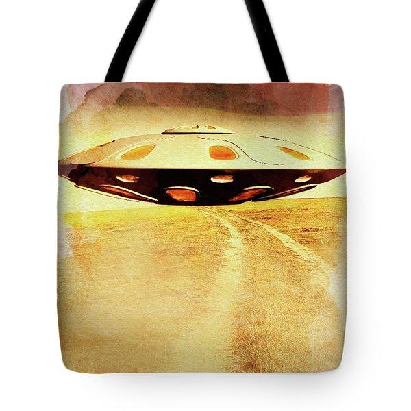 Ufo Hill Tote Bag