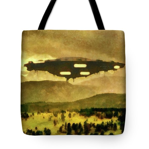 Ufo In The Country Tote Bag