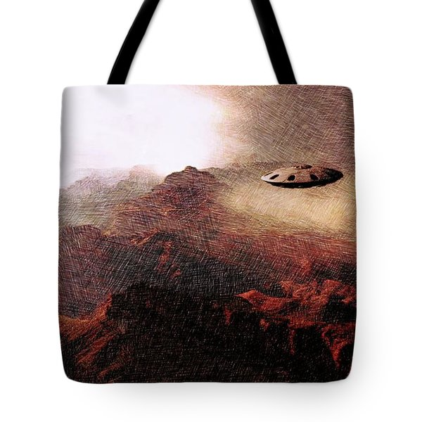 Ufo In The Mountains Tote Bag