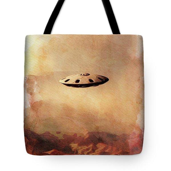 Ufo In The Rockies Tote Bag
