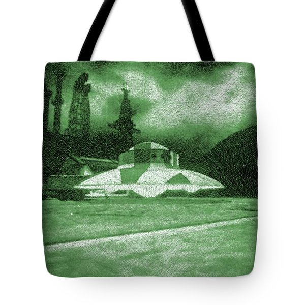 Ufo Secret Base Tote Bag