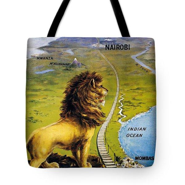 Uganda Railway - British East Africa - Retro Travel Poster - Vintage Poster Tote Bag