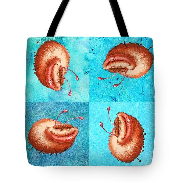 Ugly Bug Squares Tote Bag
