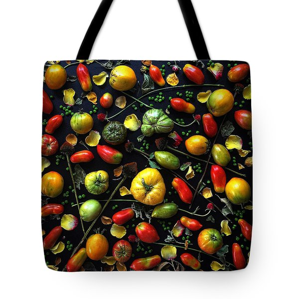 Heirloom Tomato Patterns Tote Bag