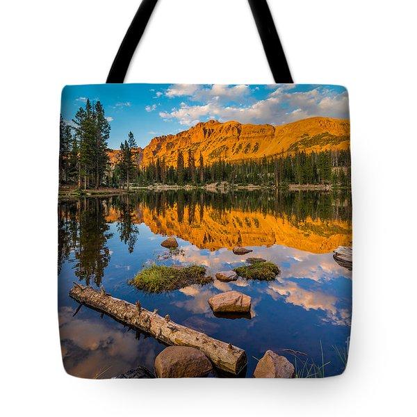 Uinta Mountains Sunset - Hayden Peak - Butterfly Lake - Utah Tote Bag