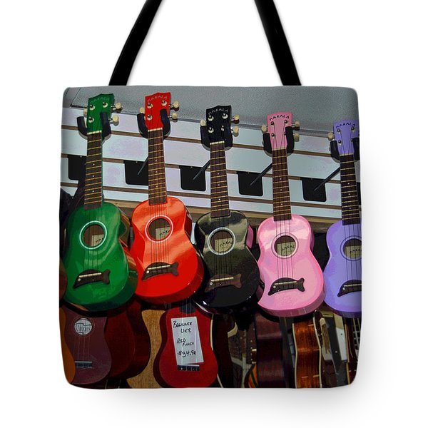 Ukeleles For Sale Tote Bag by Suzanne Gaff