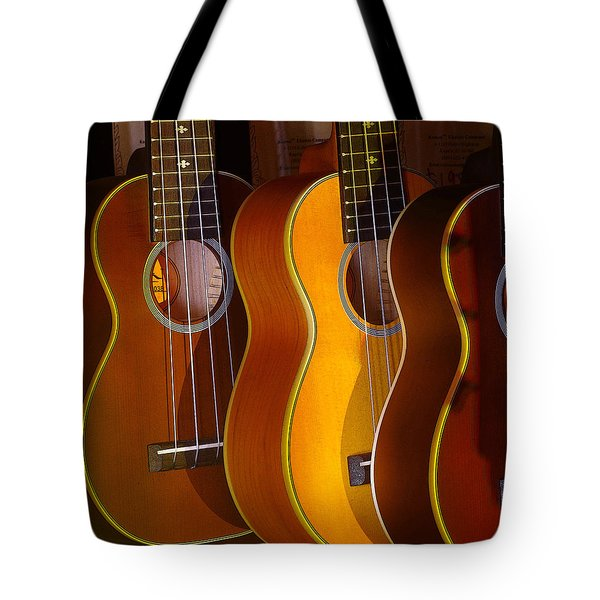 Tote Bag featuring the photograph Ukes by Jim Mathis