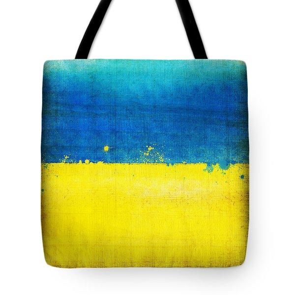 Ukraine Flag Tote Bag by Setsiri Silapasuwanchai