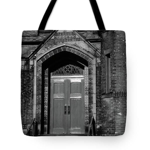 Ukrainian Catholic Church Bw Tote Bag by Karol Livote